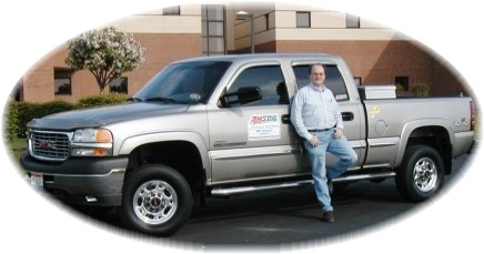 Brian Dobben with AMSOIL equipped GMC Sierra 2500HD, Duramax diesel, Allison transmission