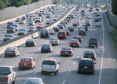 Traffic distances in rush hour