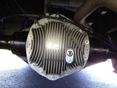 Rear Differential with upgraded aluminum cover - click here for how to prevent diff failure