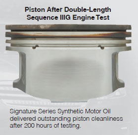 AMSOIL cleans piston rings