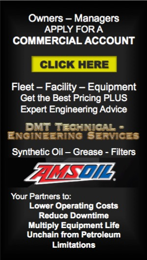 Owners – Managers: Click Here to APPLY FOR AN AMSOIL COMMERCIAL ACCOUNT. Fleet – Facility – Equipment. Get the Best Pricing PLUS Expert Engineering Advice